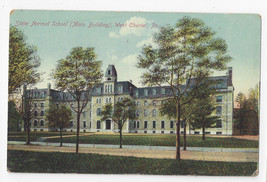 PA West Chester State Normal School Main Building Vtg A. Henry Postcard - $6.49