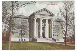 West Chester PA Library State Normal School  Biehn Repro Postcard 1999 4X6 - $4.84