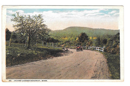 Jacobs Ladder Roadway Scenic Byway Trail Massachusetts Car Vintage 1922 ... - $4.84