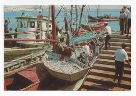 Portugal Algarve Sardine Fishing Boats Vila Real de Santo Antonio Postca... - $4.99