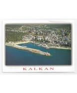 Kalkan Turkey Aerial View Mediterranean Coast 1998 Postcard 4x6 - $6.69