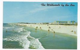 NJ Wildwood Crest Beach from Fishing Pier Vintage Postcard - $5.52