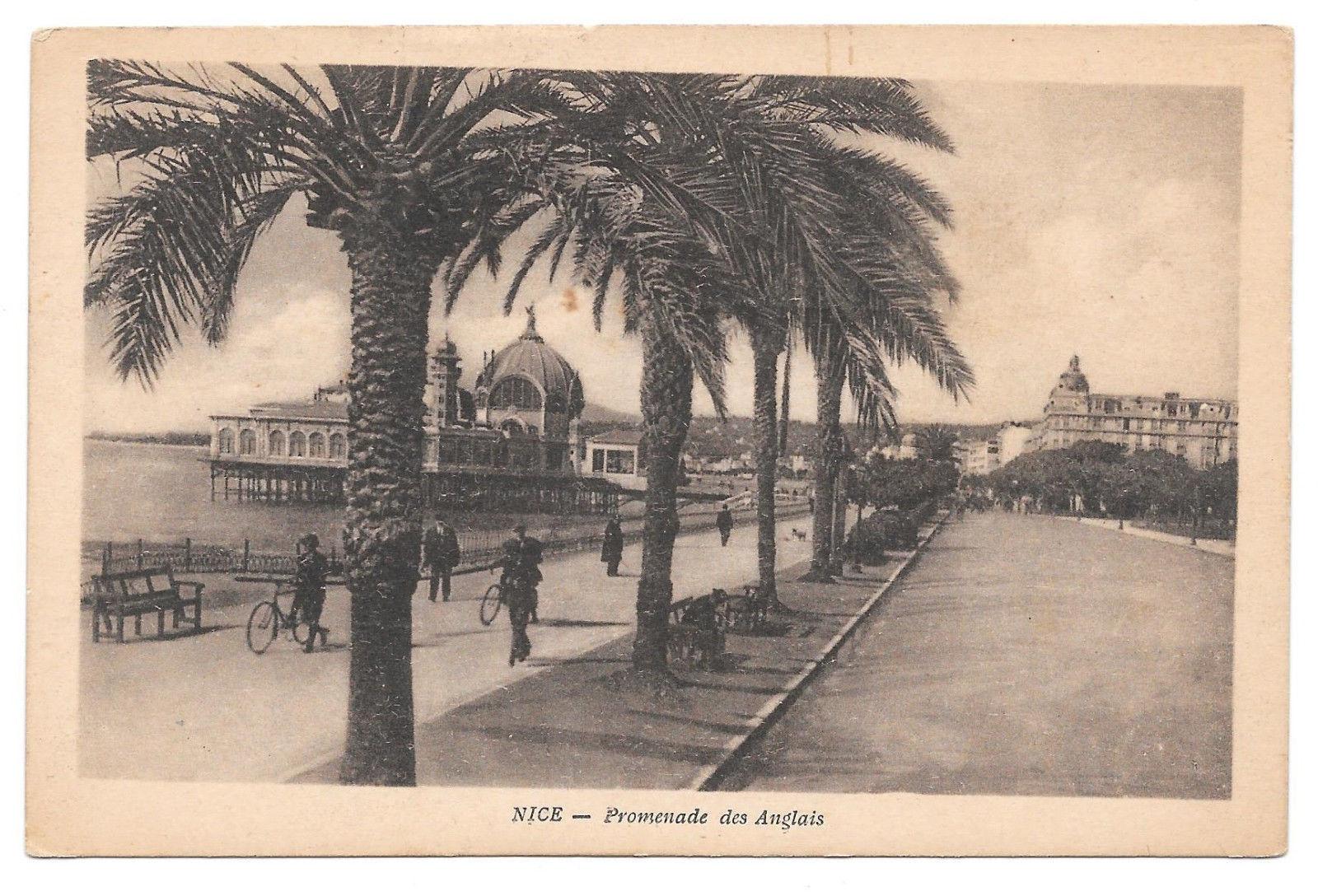 France Nice Promenade Anglais Palm Trees Vtg X Goutagny Postcard
