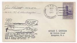 Naval USS Robert K Huntington DD-781 East Coast Lefty Lupton Comic Cache... - $7.75