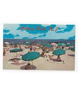 Asbury Park NJ Beach Umbrellas Blankets Bathers Ocean Vntg American Post... - $4.84