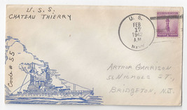 USS Chateau Thierry AP-31 Naval Cover 1942 Cachet - $4.99