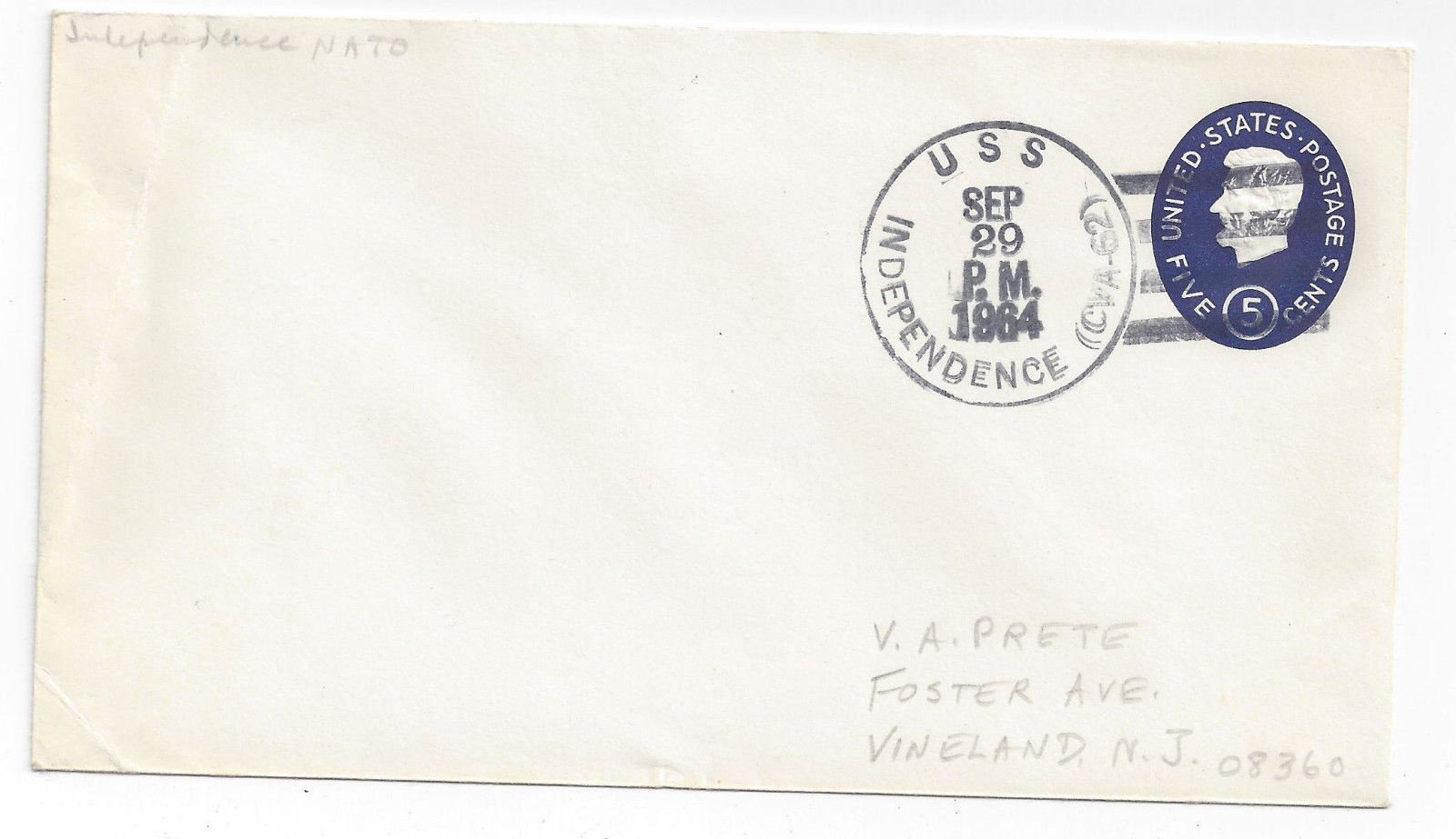 U544 USS Independence CVA 62 NATO Exercises Aircraft Carrier 1952 Cover