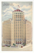 CA San Francisco Mark Hopkins Hotel Vtg 1953 Linen Postcard - $6.49