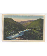 Hot Springs NC Bridge Across French Broad River Asheville Postcard co Linen - $6.49
