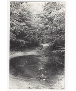 RPPC Wooded Scene pool at end of road Real Photo Postcard - $4.99