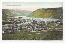 Germany Bingen und Bingerbruck Rhein River Vtg Dr Trenkler Co Postcard c... - $4.84