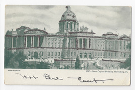 PA Harrisburg New Capitol Building Glitter Outlines Vintage 1906 UDB Postcard - $6.49