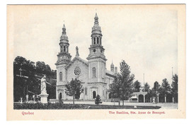 Canada Quebec Basilica Ste. Anne de Beaupre Vtg Postcard Church Cathedral - $5.50
