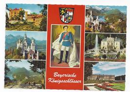 Germany Schloss Neuschwanstein Bayerische Konigsschlosser Vtg Postcard 4X6 - $6.49
