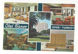 Turkey Izmir Hotel Taner Multiview Vtg Postcard Continental 4X6 - $4.84