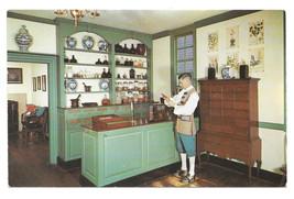 Williaimsburg VA Pasteur Galt Apothecary Shop Vtg Walter Miller Postcard - $6.49