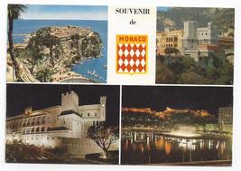 Principality Monaco Souvenir de Monaco Multiview Vintage Postcard 4X6 - $5.62