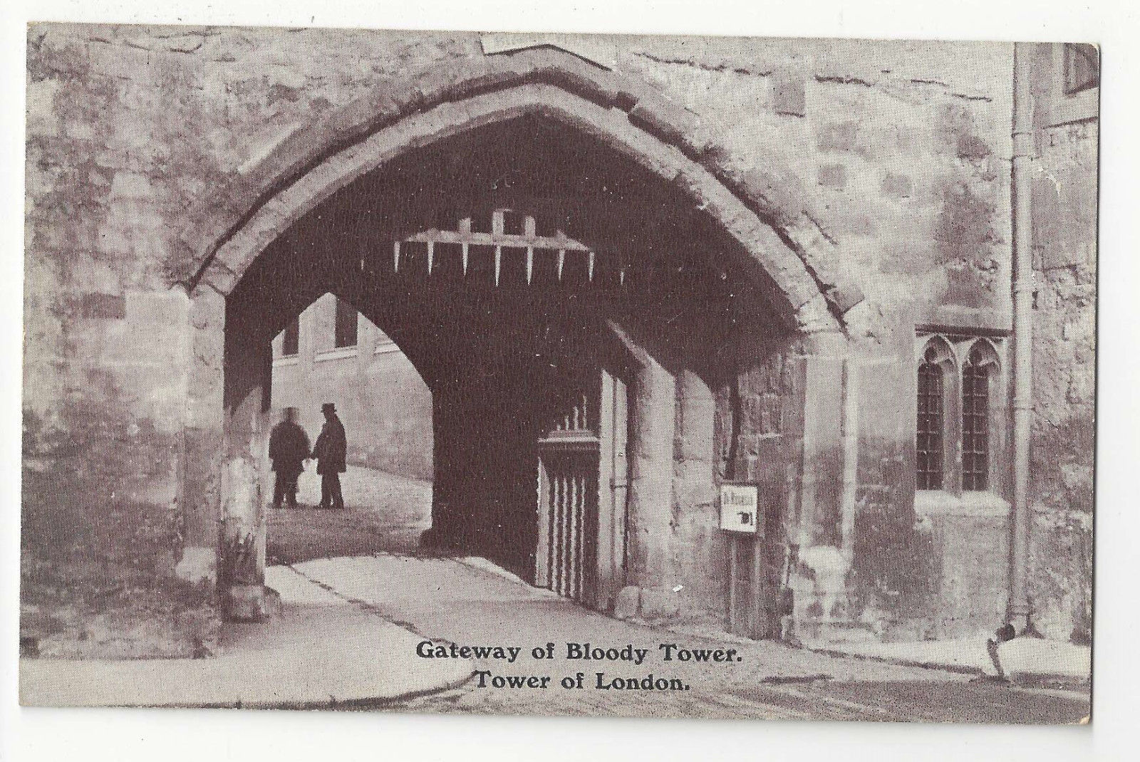 Primary image for UK Tower of London Gateway of Bloody Tower Vintage Gale & Polden Postcard