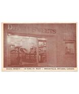 Canada Brockville Ontario Diana Sweets Restaurant Vtg Postcard - $4.99
