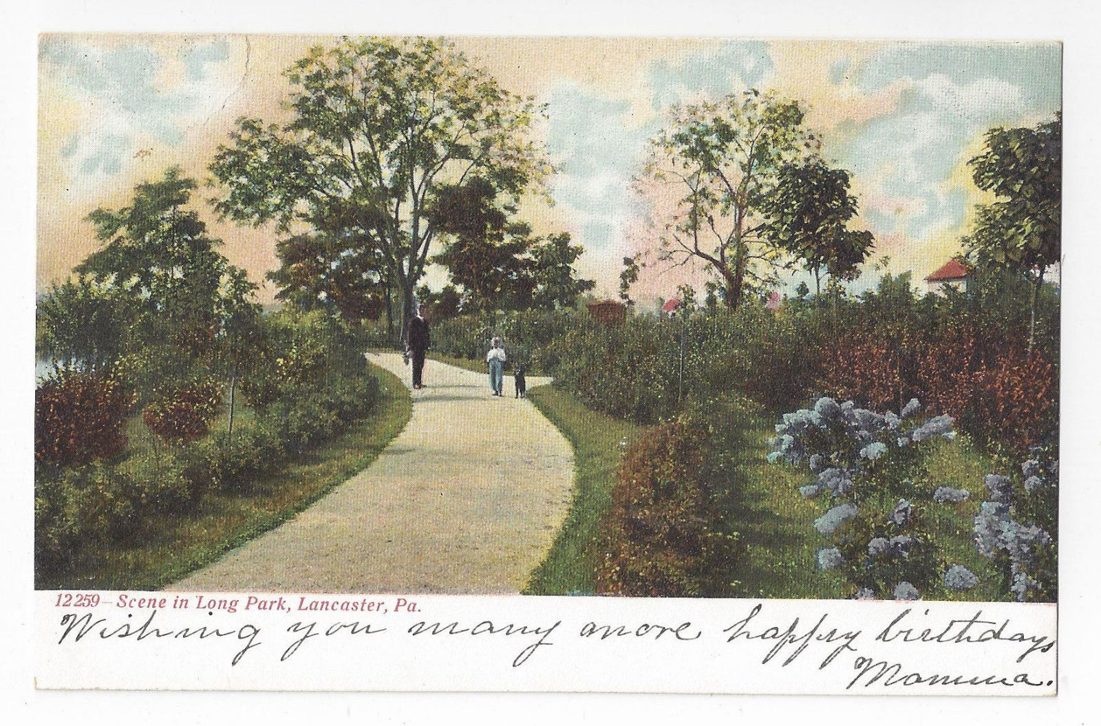 Primary image for Lancaster PA Long Park Scene Souvenir Post Card Co Vintage UND Postcard