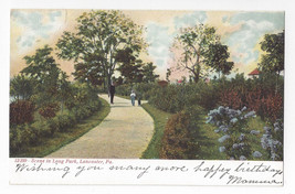 Lancaster PA Long Park Scene Souvenir Post Card Co Vintage UND Postcard - $5.62