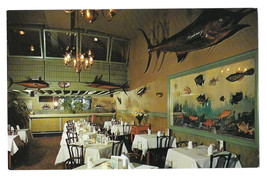 VA Richmond Bob's Seafood Grill Restaurant Vtg Walter H. Miller Postcard - $5.62