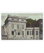 Peekskill NY Westchester County National Bank 1911 Valentine Sons Postcard - $5.62