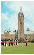 Canada Ottawa Ontario Changing of the Guard Parliament Building Vtg Post... - $5.62