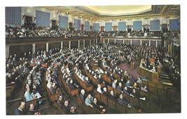 Washington DC House of Representatives 1973 Vtg Postcard - $5.81