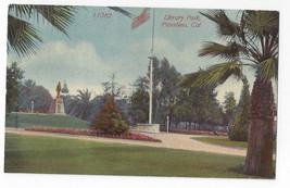 Pasadena CA Library Park Vintage Acmegraph California Postcard - $5.81