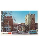 Turkey Antalya Hadrians Gate Portal VW Bus Volkswagen Vtg Hitit Postcard... - $5.62