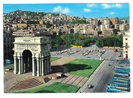 Italy Genoa Genova Victory Square Monument to Fallen Vtg Postcard 4X6 - $5.81