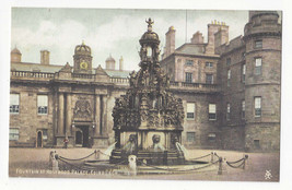 Scotland Edinburgh Holyrood Palace Fountain Vtg ca 1910 Postcard - $5.81