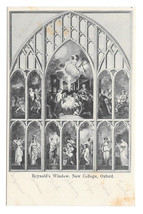 UK Oxford Reynold's Window New College Vintage Postcard - $5.62