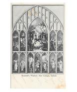 UK Oxford Reynold's Window New College Vintage Postcard - $5.62