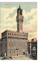 Italy Firenze Palazzo Vecchia Town Hall Florence Vtg Postcard - $4.84