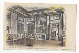 France Palais Fontainebleau Marie Antoinette Music Room Vtg UDB Postcard - $5.81