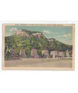 Chimney Rock NC Entrance Western North Carolina Asheville Postcard Co Linen - $5.62