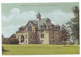 West Chester PA Gymnasium State Normal School Biehn Repro Postcard 1999 4X6 - $5.62