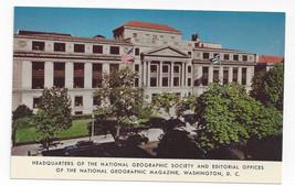 Washington DC Headquarters National Geogaphic Society Magazine Vtg Postcard - $5.62
