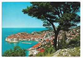 Croatia Dubrovnik Jugoslavia Birds Eye View Vtg  Postcard 4X6 - $5.70
