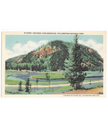 WY Yellowstone National Park Mountain Vtg Haynes Linen Postcard Wyoming - $4.99