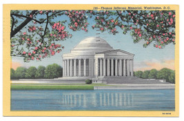 Washington DC Jefferson Monumnet Curteich B. S. Reynolds Vtg Linen Postcard - $5.81