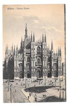 Italy Milano Piazza Duomo Milan Cathedral Square Vtg Postcard - $5.81