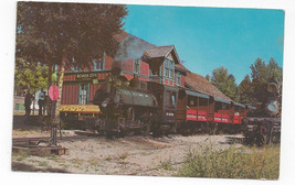 RR Depot Short Line Steam Engine Train Nevada City Montana 1976 Chrome P... - $5.81