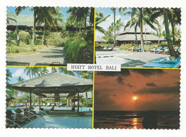 Bali Hyatt Hotel Multiview Swimming Pool Vtg Indonesia Postcard 4X6 - $4.99