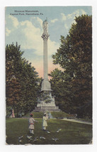 Harrisburg PA Mexican Monument Capitol Park Vintage 1915 Postcard - $4.84