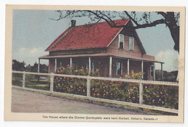 Canada Dionne Quintuplets House in Corbeil Ontario Vintage Postcard - $5.81