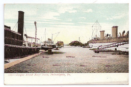 PA Philadelphia League Island Navy Yard 1905 Vintage UDB Glitter Post Card - $5.62