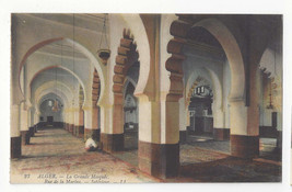 Africa Algeria Alger La Grande Mosquee Interior Vtg Lucien Levy Postcard... - $5.62
